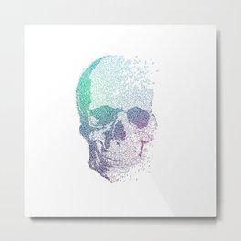 Melodic Skull Metal Print