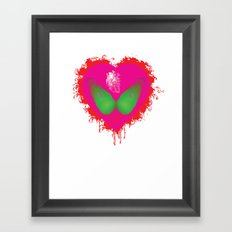 lovebomb-iiis - élan vital ephemeral - in_destruction creation! (blood splatter v) Framed Art Print