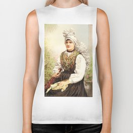Romanian Gypsy girl Biker Tank
