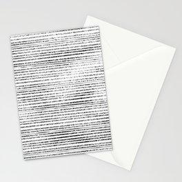 Black Stripes II Stationery Cards