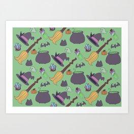 Wicked Fun Green Art Print