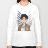 levi Long Sleeve T-shirts featuring Levi Rivaille by Larkee Beatz
