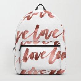 Rose Gold Love Backpack