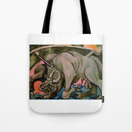 Pablo Picasso Dying Bull 1934 T Shirt, Artwork Reproduction Tote Bag