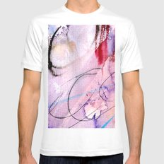 Rain in May Mens Fitted Tee MEDIUM White