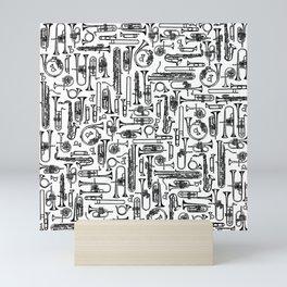 Horns B&W II Mini Art Print