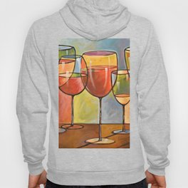 Whites and Reds ... abstract wine glass art, kitchen bar prints Hoody