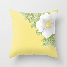 Cherokee Rose (yellow) Throw Pillow