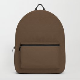 Chocolate Milk Dark Brown Solid Color Pairs To Sherwin Williams Umber SW 6146 Backpack