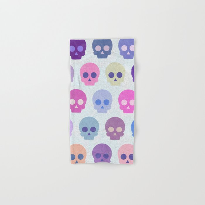 Colorful Skull Cute Pattern III Hand & Bath Towel