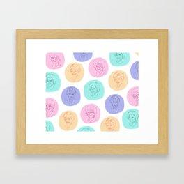 golden girls best friends pastel pattern Framed Art Print