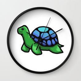 Green Tortoise Wall Clock