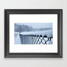 Snow in Central Park VI Framed Art Print