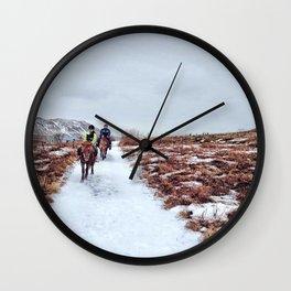 Horseback Wall Clock
