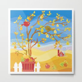 Autumn Fruit Farm Metal Print
