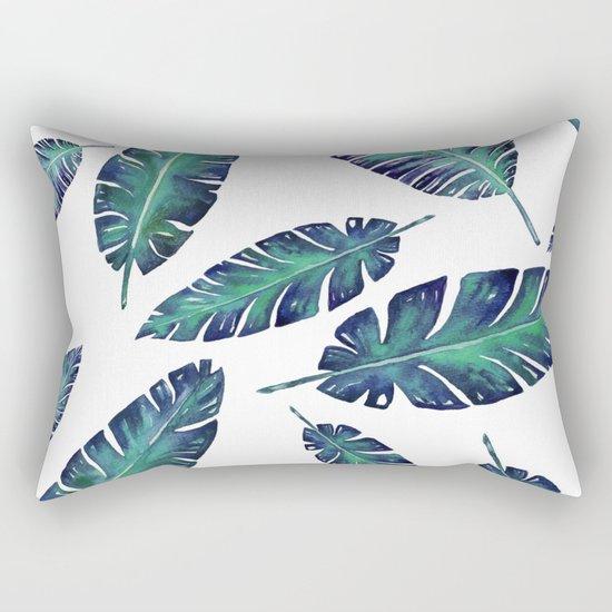 Watercolor garden leaves Rectangular Pillow