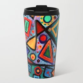 Abstract Sun Travel Mug