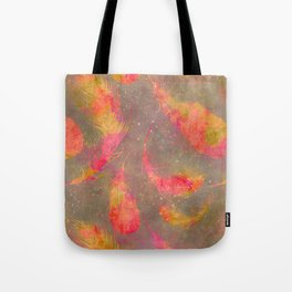 Feather pink and orange Tote Bag