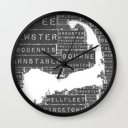The Cape is so Grey Wall Clock
