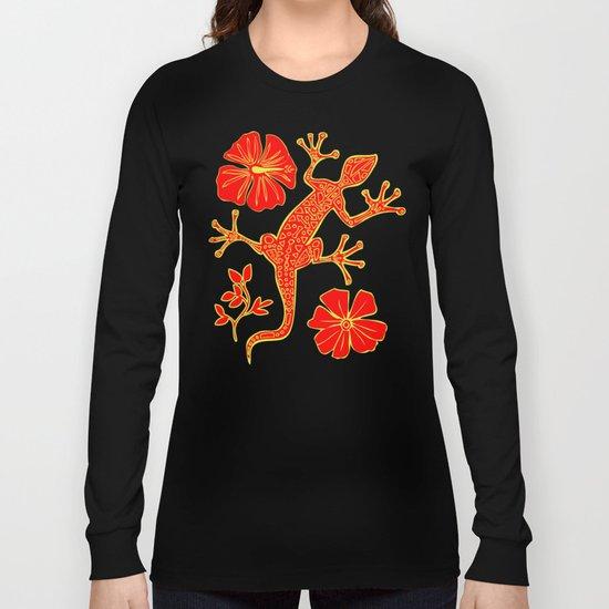Tribal Lizard Design #1 Long Sleeve T-shirt