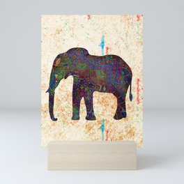 Tribal Elephant Mini Art Print
