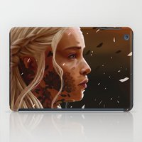 mother of dragons iPad Cases featuring Mother of dragons by cloudyh