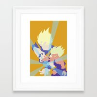 dragonball z Framed Art Prints featuring Dragonball Z - Father-Son KameHameHa by TracingHorses