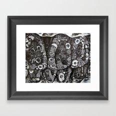 Flower Teeth  Framed Art Print