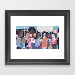 WHY AM I ME? SUBWAY SCENE Framed Art Print