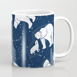 Polar Bear and Constellation Arctic Night Sky Stars Coffee Mug