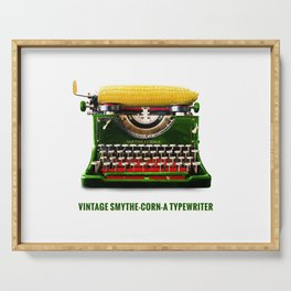 ORGANIC INVENTIONS SERIES: Vintage Smythe-Corn-A Typewriter Serving Tray