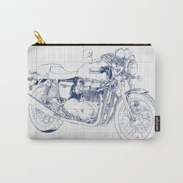 Triumph motorcycle blue and grey, giftforman,christmas gift Carry-All Pouch