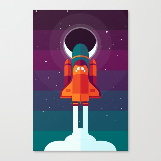 Into Spaaaace Canvas Print