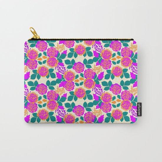 Carnation Garden Carry-All Pouch