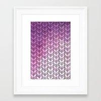 herringbone Framed Art Prints featuring Herringbone by Tooth & Nail Designs