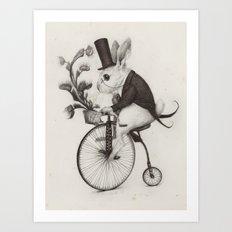 Delivery Rabbit  Art Print