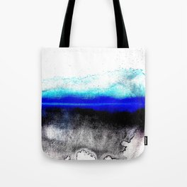 Abstract sunset blue Tote Bag