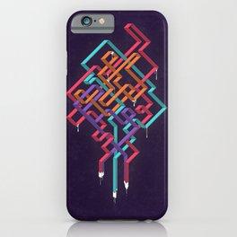 Weaving Lines iPhone Case
