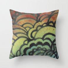 Drawing Meditation Stencil 1 - Print 9 Throw Pillow