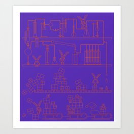 Christmas Factory Art Print