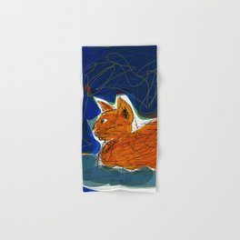 Socca Ginger Cat Art Hand & Bath Towel