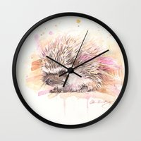 """sonic Wall Clocks featuring """"Sonic"""" by PaintedBunting"""