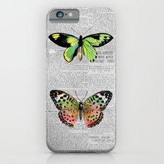 Newspaper and Butterflies Slim Case iPhone 6