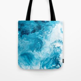 Blue Ocean Surface Abstract Art Tote Bag