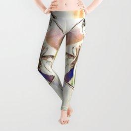 Tomoe Gozen watercolor Leggings