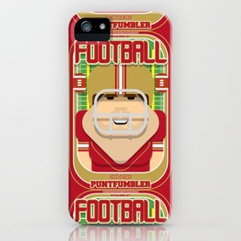American Football Red and Gold - Enzone Puntfumbler - Bob version iPhone Case