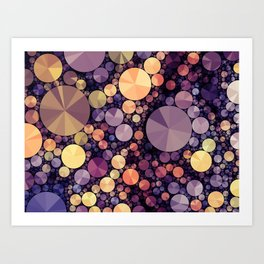 Purple Berries Art Print