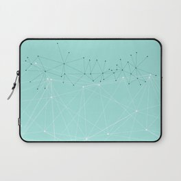 LIGHT LINES ENSEMBLE IX TURQUOISE Laptop Sleeve