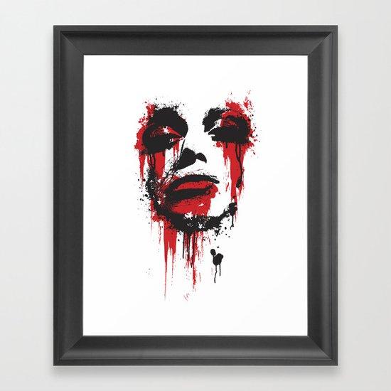 Paint Face Framed Art Print