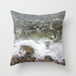 Small wave at Pebble beach Throw Pillow
